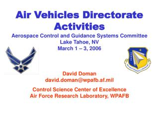 Air Vehicles Directorate Activities