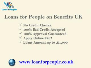 Get Loan for people on Benefits Today