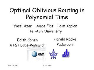 Optimal Oblivious Routing in Polynomial Time