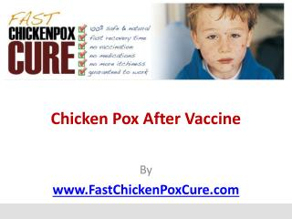 Chicken Pox After Vaccine