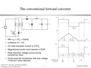 The conventional forward converter