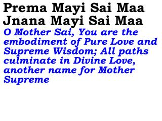 Jaya Maa Jaya Maa Jaya Maa Victory to You, O Divine Mother