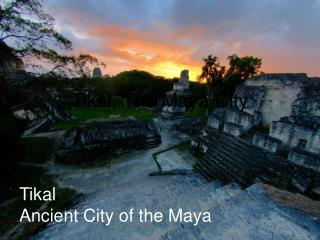 Tikal, The Maya City