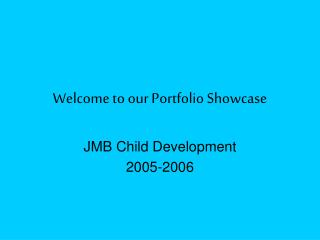 Welcome to our Portfolio Showcase