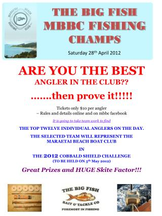 THE BIG FISH MBBC FISHING  CHAMPS