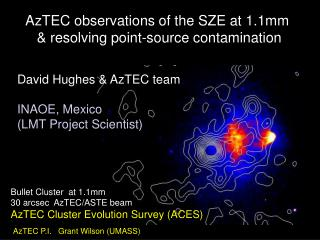 AzTEC observations of the SZE at 1.1mm  & resolving point-source contamination