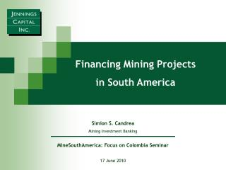 MineSouthAmerica: Focus on Colombia Seminar