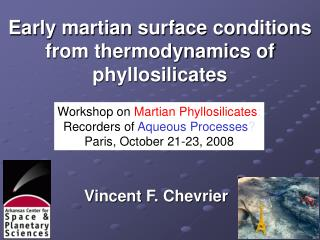 Early martian surface conditions from thermodynamics of phyllosilicates