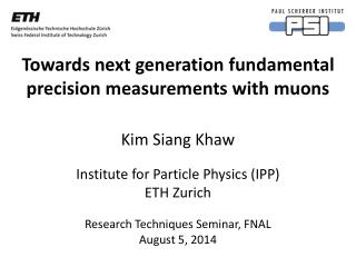 Towards next generation fundamental precision measurements with muons