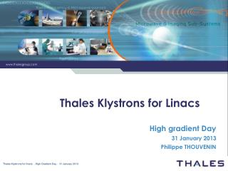 Thales Klystrons for Linacs