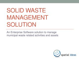 Solid Waste Management Solution