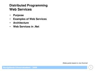 Distributed Programming Web Services