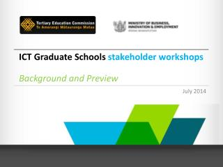 ICT Graduate Schools  stakeholder workshops Background and Preview