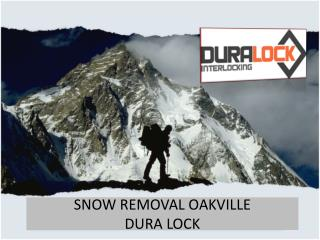 Snow Removal Service in Oakville