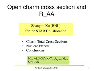 Open charm cross section and R_AA
