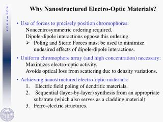 Why Nanostructured Electro-Optic Materials?