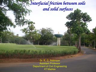Interfacial friction between soils and solid surfaces