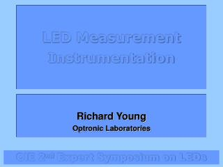 LED Measurement Instrumentation