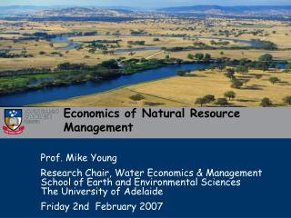 Economics of Natural Resource Management