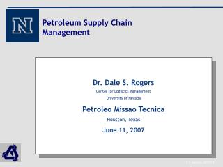 Petroleum Supply Chain Management