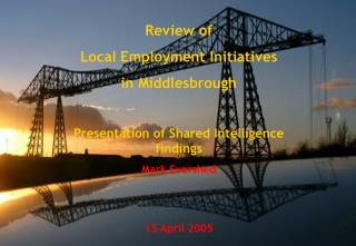 Review of  Local Employment Initiatives  in Middlesbrough