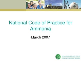 National Code of Practice for Ammonia