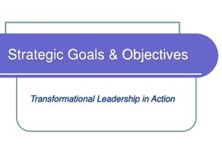 Strategic Goals & Objectives