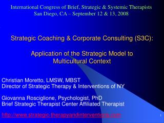 Christian Moretto, LMSW, MBST Director of Strategic Therapy & Interventions of NY
