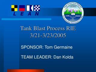 Tank Blast Process RIE 3/21-3/23/2005