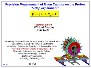 "Precision Measurement of Muon Capture on the Proton "" m Cap experiment"""