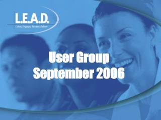 User Group September 2006