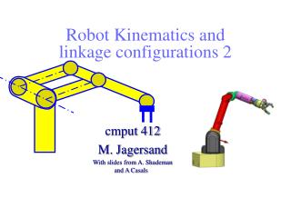 Robot Kinematics and linkage configurations 2