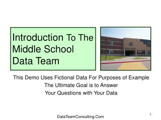 Introduction  To The  Middle School Data Team
