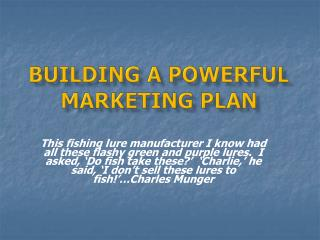 Building a Powerful Marketing Plan