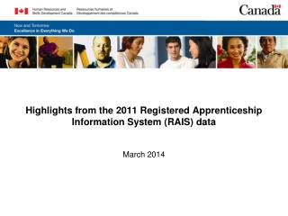 Highlights from the 2011 Registered Apprenticeship Information System (RAIS) data