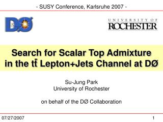 Search for Scalar Top Admixture in the tt Lepton+Jets Channel at DØ