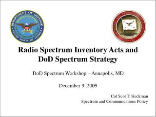 Radio Spectrum Inventory Acts and DoD Spectrum Strategy