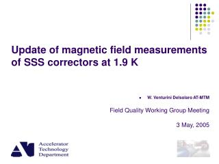 Update of magnetic field measurements  of SSS correctors at 1.9 K