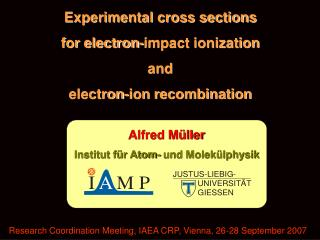 Experimental cross sections  for electron-impact ionization  and  electron-ion recombination