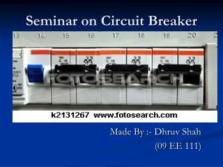 Seminar on Circuit Breaker