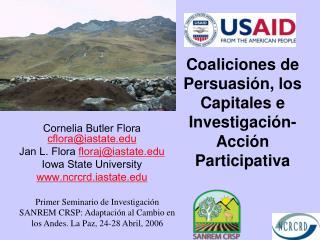 Coaliciones de  Persuasión, los Capitales e Investigaci ón- Acción Participativa