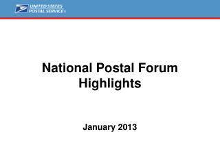 National Postal Forum Highlights