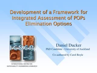 Development of a  Framework for Integrated Assessment of POPs Elimination Options