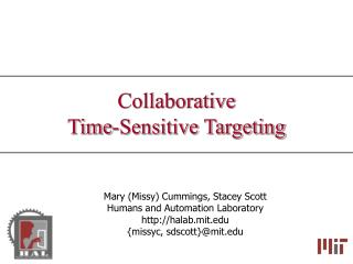 Collaborative  Time-Sensitive Targeting