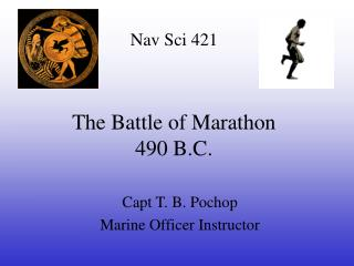 The Battle of Marathon 490 B.C.