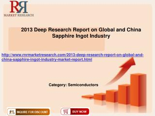 2013 Deep Research Report on Global and China Sapphire Ingot Industry