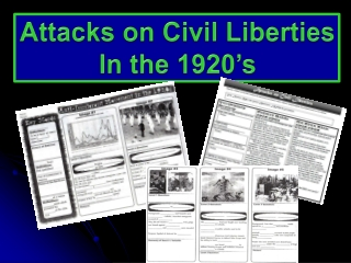Attacks on Civil Liberties In the 1920's