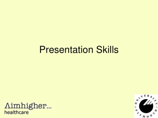 Presentation Skills   the Use of IT