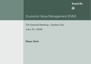 Economic Value Management (EVM)
