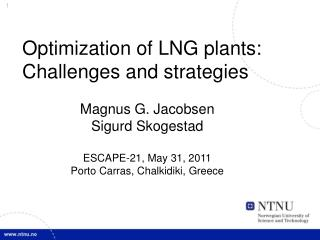 Optimization of LNG plants: Challenges and strategies
